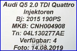 04L130277AE Audi Q5 8R A3 8V Seat Leon 5F 2.0TDI Injecteur