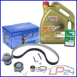 Skf Kit De Distribution+5l Castrol 5w-30 LL Audi A3 8p 2.0 Tdi 05-08